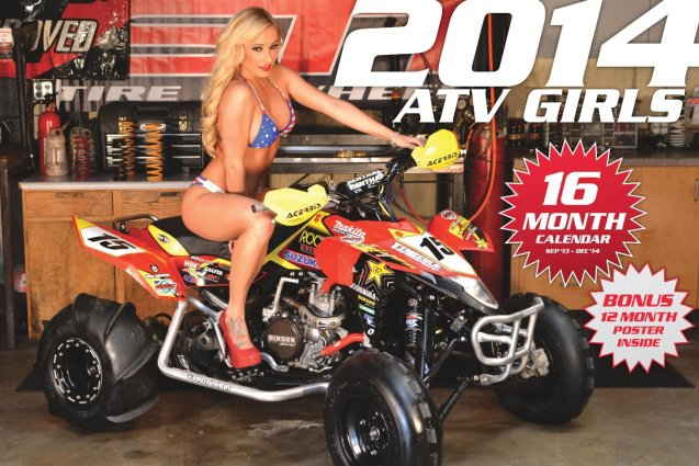 2014 ATV Girls Bikini Calendar HD Wallpaper