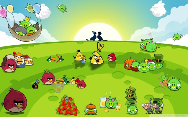 Angry Birds Party Wallpaper