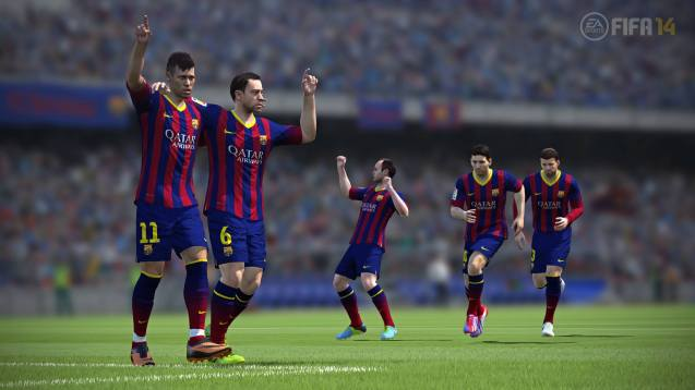 Barcelona Club FIFA 14 HD Wallpaper