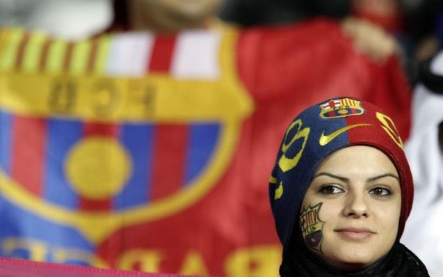 Barcelona F.C Sexy Woman Fan Wallpaper