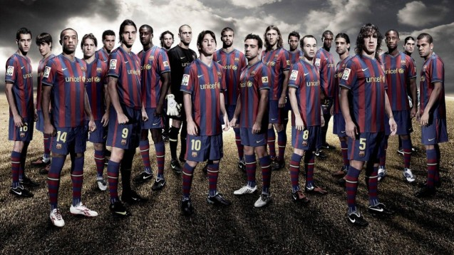 Barcelona Squad HD Wallpaper