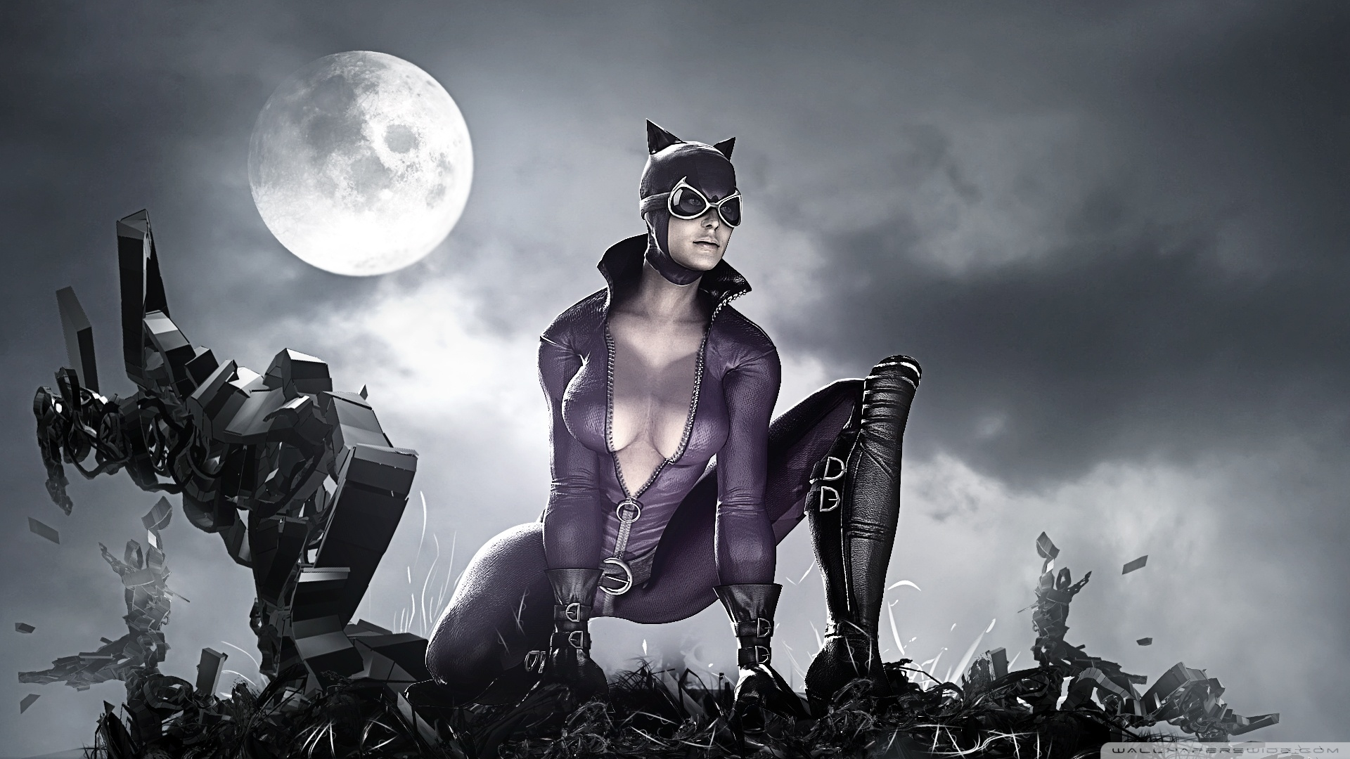 Batman Arkham City Sexy Catwoman Wallpaper