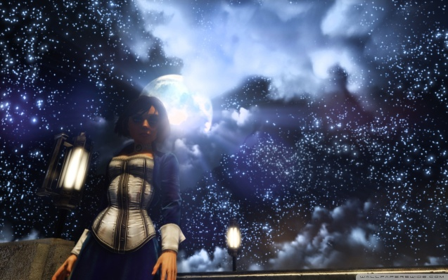 BioShock Infinite Elizabeth and the Starry Sky Wallpaper