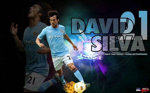 Manchester City David Silver Football Wallpaper
