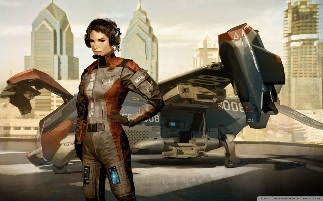 Deus Ex Human Revolution Girl Concept Art Wallpaper