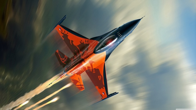 F-16 Fighting Falcon Jet Fighter HD Wallpaper