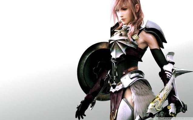 Final Fantasy FFXIII-2 Sexy Lightning Wallpaper