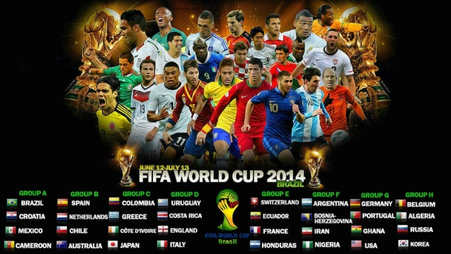 FIFA World Cup 2014 Schedule HD Wallpaper