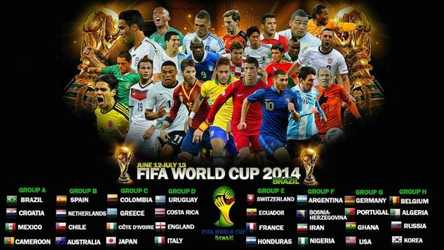 FIFA World Cup 2014 Schedule HD Wallpaper