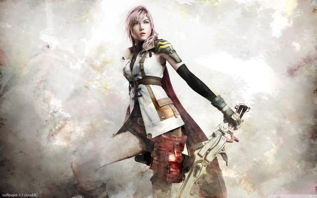 Final Fantasy XIII Lightning Artwork Wallpaper