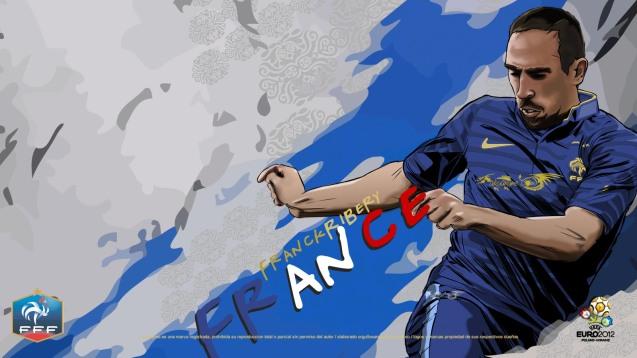 French National Football Team Franck Ribery Wallpaper