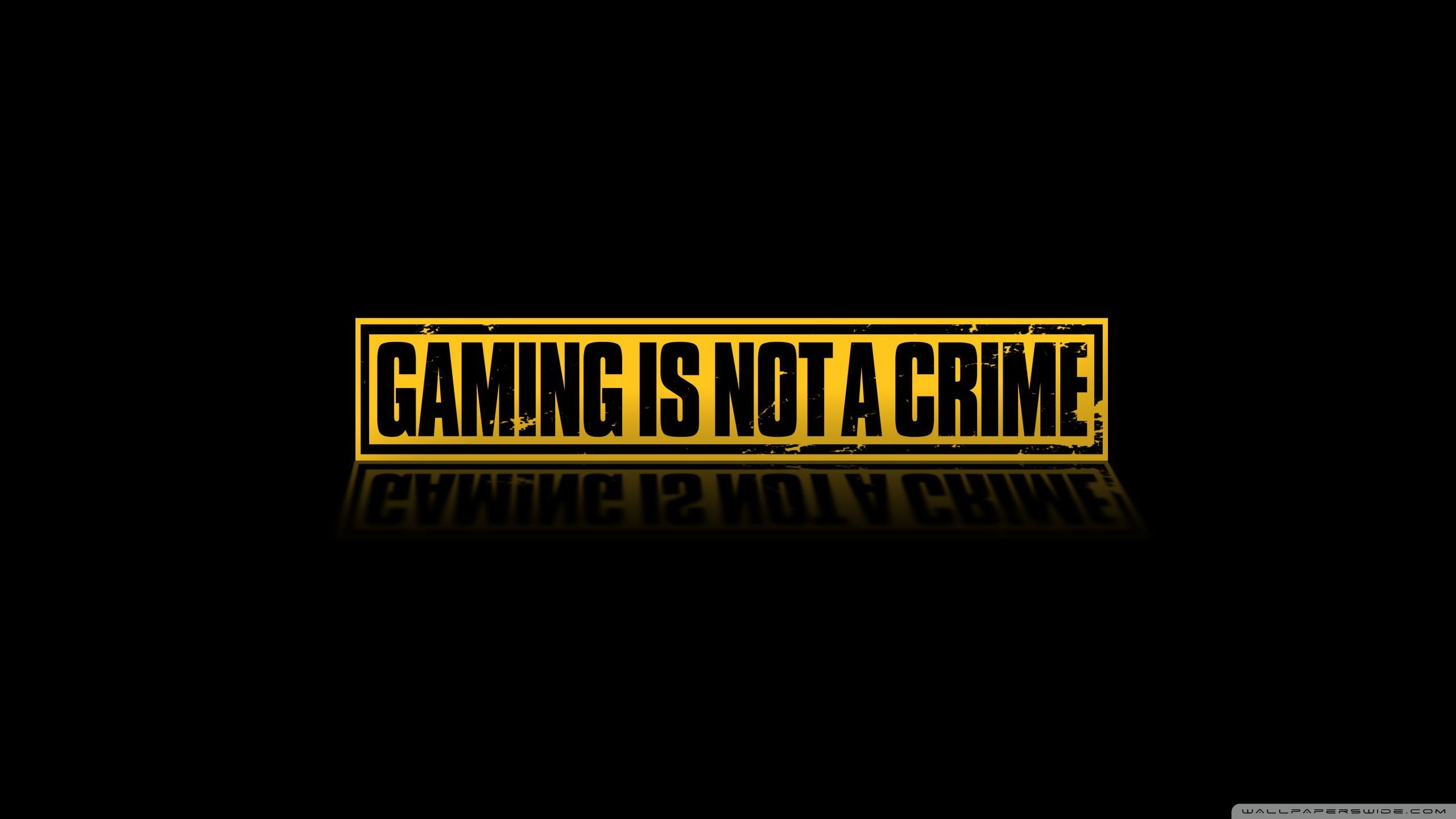 Gaming Is Not A Crime HD Wallpaper