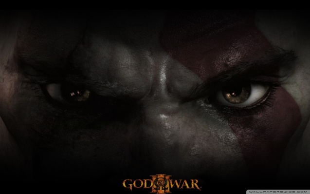God of War III, Kratos Eyes Wallpaper