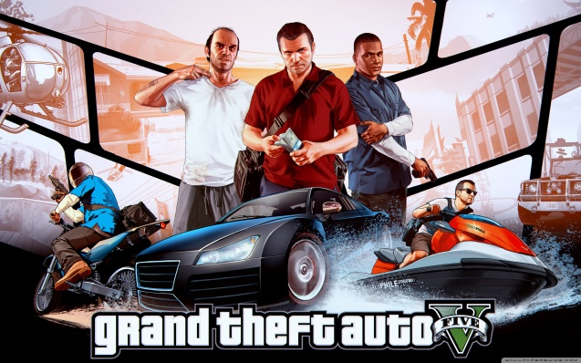 Grand Theft Auto V - Franklin, Michael Trevor Wallpaper