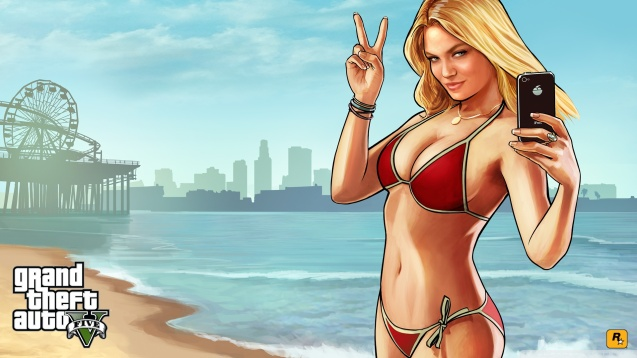 Grand Theft Auto V - Sexy Bikini Beach Babes Wallpaper