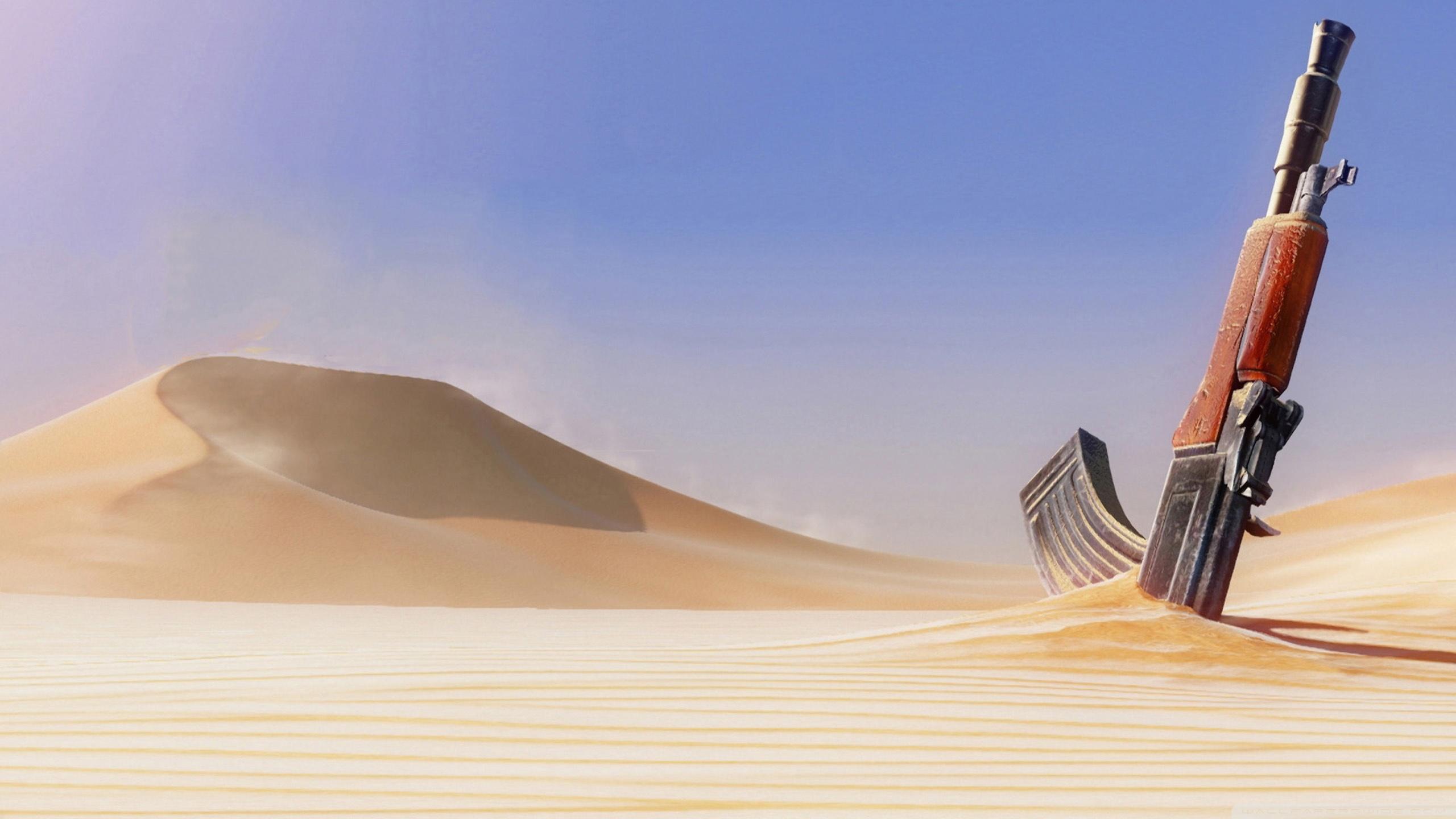Ak 47 In Sand Hd Wallpaper Wallpaperlistscom