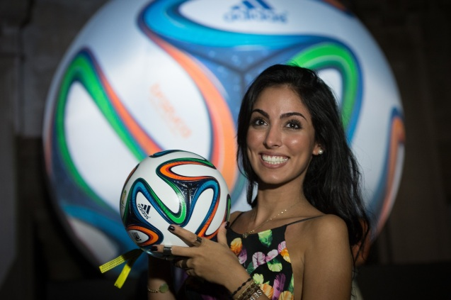 Hot Brazilian Girl FIFA 2014 HD Wallpaper