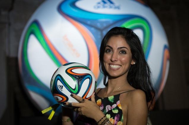 Hot Brazilian Girl FIFA 2014 HD Wallpaper