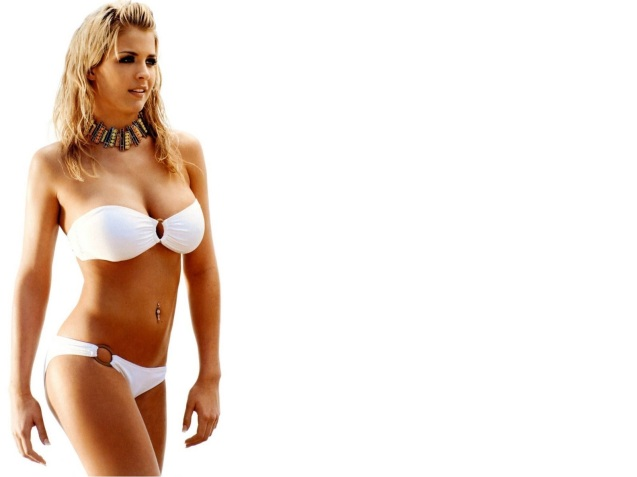Hot Sexy White Bikini Gemma Atkinson Wallpaper