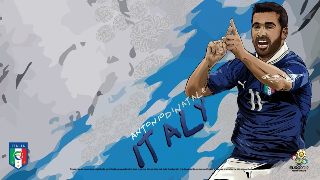Italian National Football Team Antonio di Natale Wallpaper