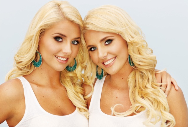 Kristina and Karissa Shannon Sisters Wallpaper