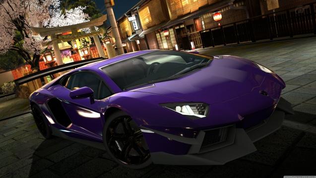 Lamborghini Aventador LP700-4 Purple Wallpaper