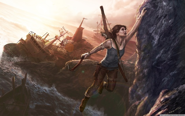 Lara Croft A Survivor Is Born Wallpaper