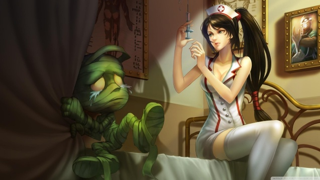 Sexy Nurse League Of Legends Video Game Wallpaper