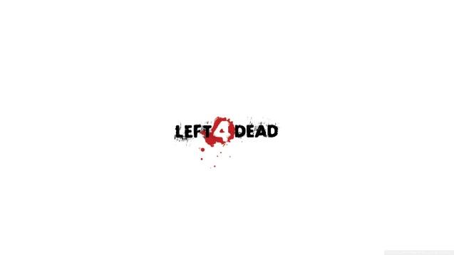Left 4 Dead White Logo Wallpaper