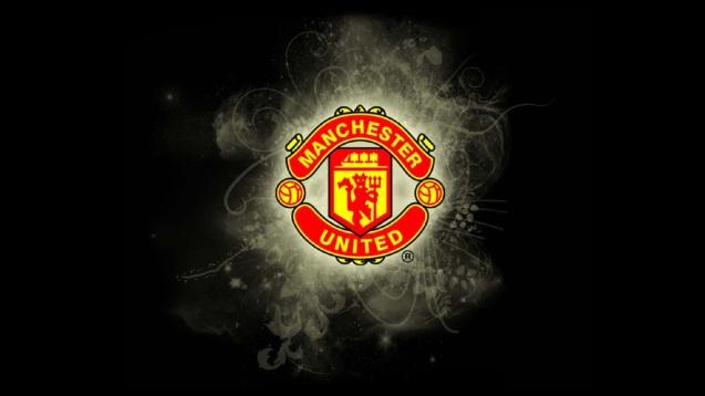 Manchester United Logo Splash Wallpaper