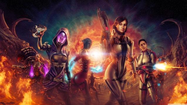 Mass Effect 2 Sexy Girls Wallpaper