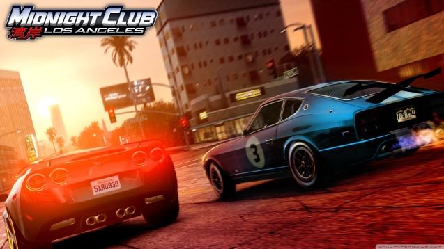 Midnight Club Los Angeles Corvette vs 280Z Wallpaper