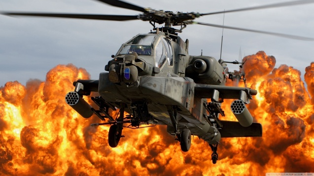 AH-64 Apache Attack Helicopter HD Wallpaper