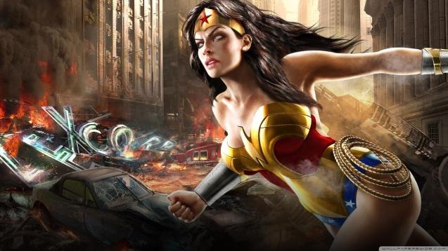 Sexy Wonder Woman - Mortal Kombat Vs DC Universe Comics Wallpaper