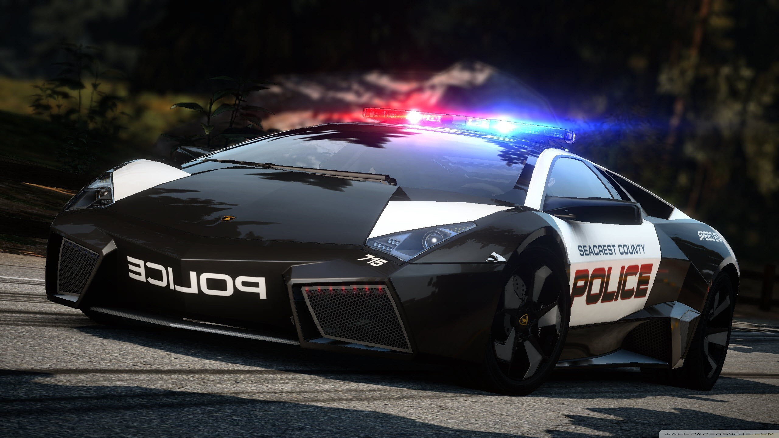 Need For Speed Hot Pursuit Lamborghini Police Car Wallpaper
