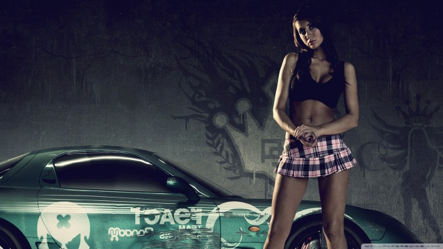 Sexy Girl Need For Speed Pro Street Wallpaper