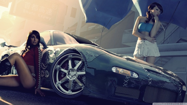 Sexy Babes Need For Speed Pro Street Wallpaper
