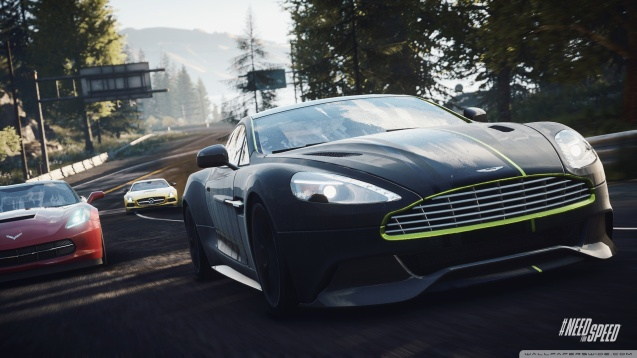 Need for Speed Rivals Aston Vanquish In The Lead Wallpaper