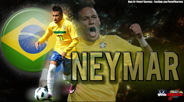 Brazilin National Football Team Neymar Wallpaper