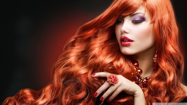 Orange Hair Woman HD Wallpaper