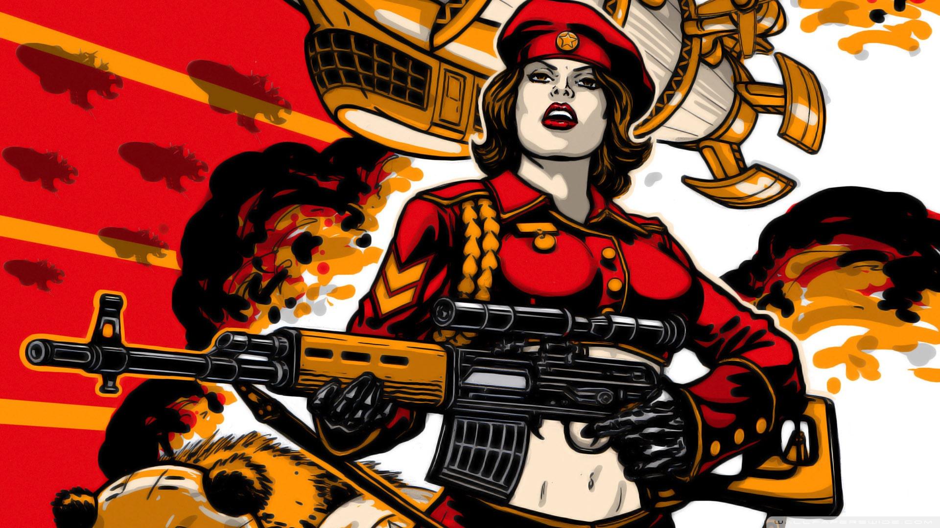 Red Alert 3 Soviet Army Girl Wallpaper | WallpaperLists.COM