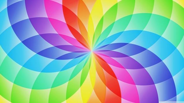 Rainbow Circles HD Wallpaper