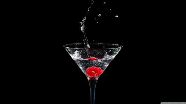 Raspberries Cocktail Wallpaper