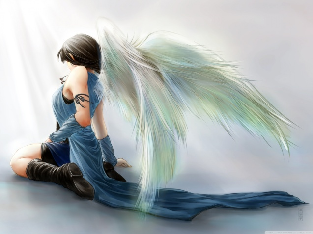 Final Fantasy VIII Rinoa Heartilly Angel Wings Wallpaper