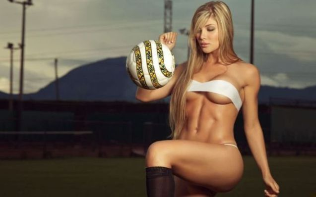 Sexy Soccer Girl HD Wallpaper