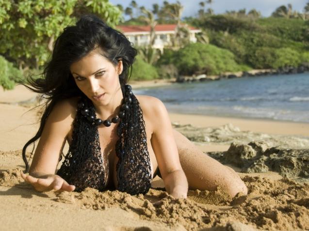 Sexy Bikini Denise Milani HD Wallpaper