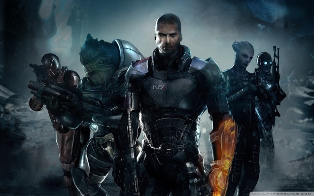 Shepard and His Team Wallpaper