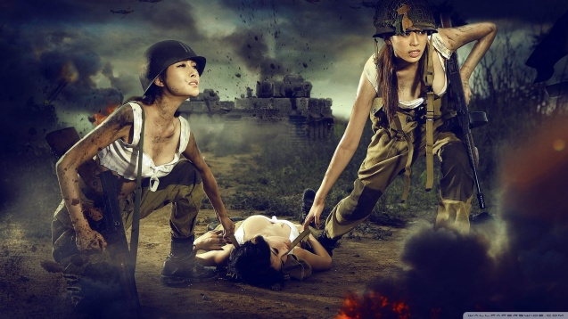 Soldier Girls HD Wallpaper