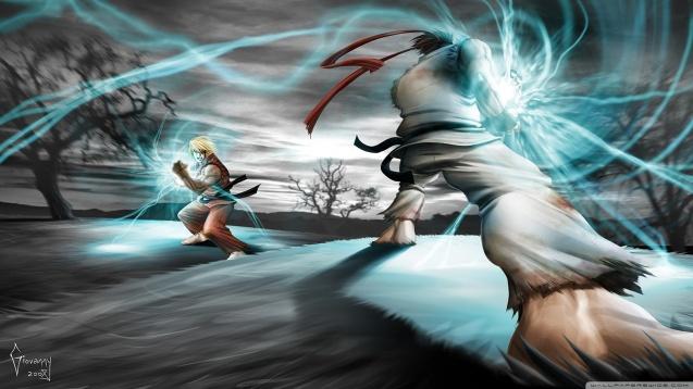Street Fighter Ryu vs Ken HD Wallpaper