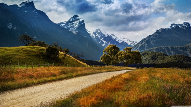 New Zealand: The Dirt Road to Paradise HD Wallpaper